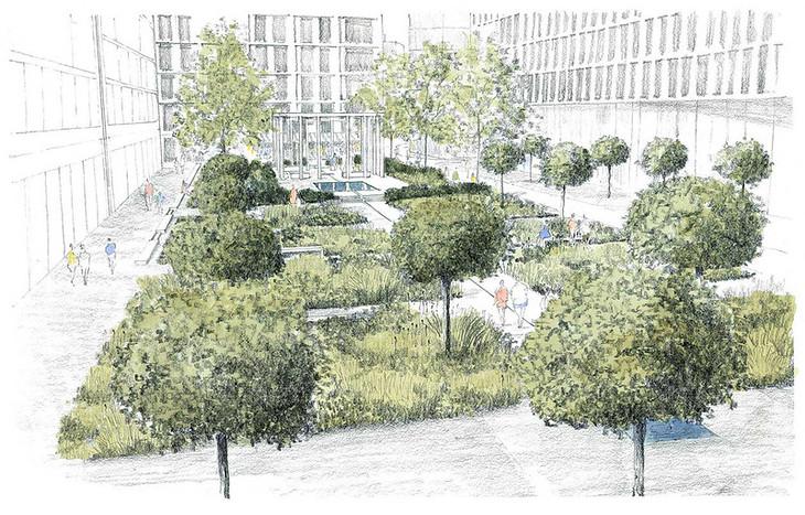 Commissioned by the Aga Khan Development Network, Jellicoe Garden - Kings Cross, London