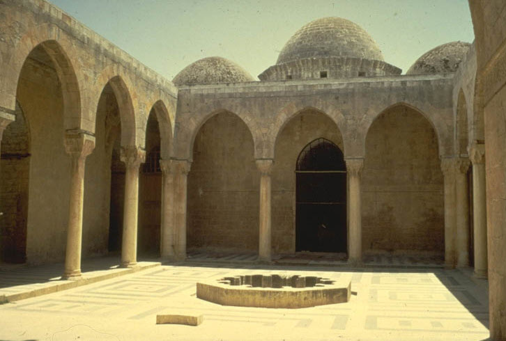 The Madrasa al-Firdaws in Aleppo, general view from courtyard. Image: MIT