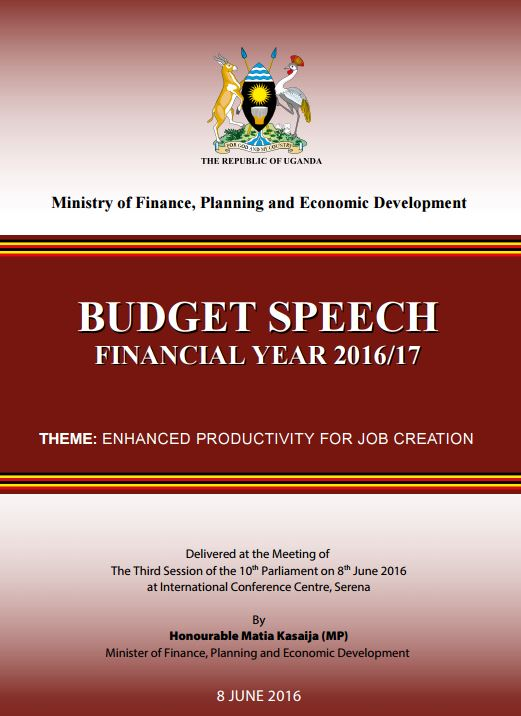 Uganda's 2016-7 Budget Speech highlights AKDN's Teaching Hospital to be ready in 2020 - Full Doc