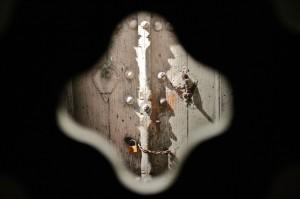 "Abbas Kiarostami in his installation ""Doors Without Keys"" at the Aga Khan Museum (Image credit: Aga Khan Museum)"