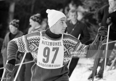Karim Aga Khan at a skiing competition in the ski resort in the Austrian Tyrol, Kitzbühel, Austria -January 22, 1962 (Photo by Philippe Le Tellier/Paris Match via Getty Images)
