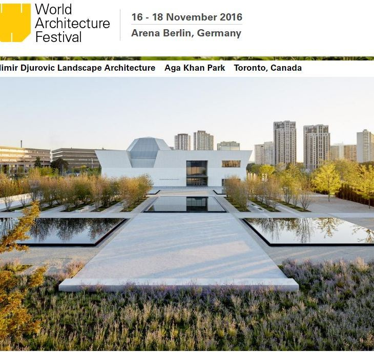 Aga Khan Park by Vladimir Djurovic Landscape Architecture. Photo courtesy of WAF