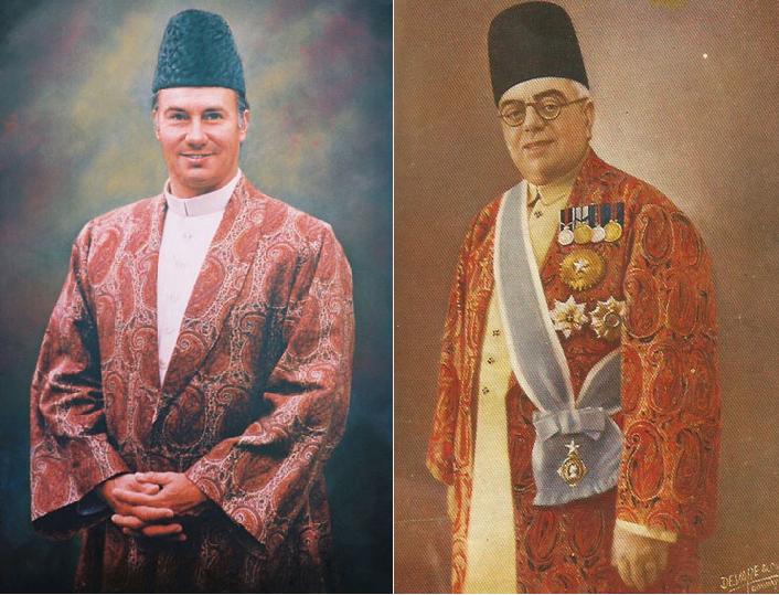 (L-R) His Highness Prince Karim Aga Khan IV & His Highness Aga Sir Sultan Muhammad Shah, Aga Khan III (Image from the Ismailimail Archives)