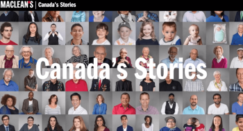 """Maclean's """"Canada's Stories"""" selects Sheliza Kassam for the year 1997"""