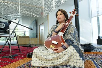 A member of Afghan music group Mushfiq performs at the Delegation of the Ismaili Imamat building. (Image credit: The Hill Times / Sam Garcia). (Image credit: The Hill Times / Sam Garcia)
