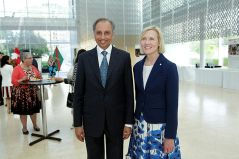 AKDN Resident Representative Dr Mahmoud Eboo with Roseann O'Reilly Runte, president of Carleton University at the Delegation of the Ismaili Imamat building. (Image credit: The Hill Times / Sam Garcia)