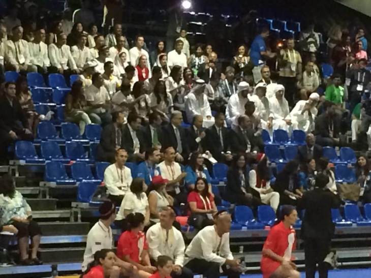 Prince Rahim Aga Khan in attendance at the 2016 Jubilee Games Dubai - Opening Ceremonies about to start