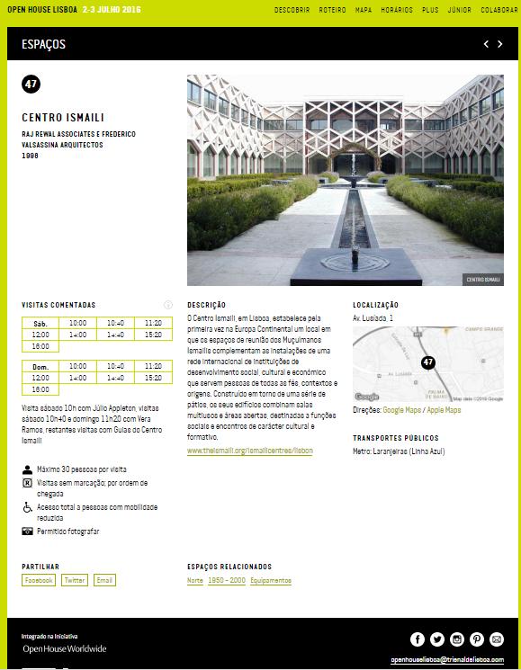 Open House Lisboa - Centro Ismaili Lisboa
