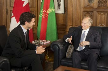 The Right Honourable Justin Trudeau, Prime Minister of Canada with His Highness Prince Karim Aga Khan. (Image credit: Jean Marc Carisse)