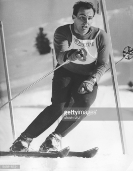 Prince Karim Aga Khan in a ski race in Villars, Switzerland - 1960 (Photo by Ullstein Bild/Getty Images)