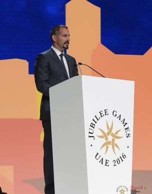 Speech by Prince Rahim at the Opening Ceremony of the 2016 Jubilee Games in Dubai