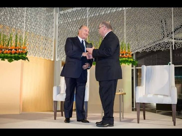 Archive: His Highness the Aga Khan awarded the 2013 Royal Architectural Institute of Canada's Gold Medal