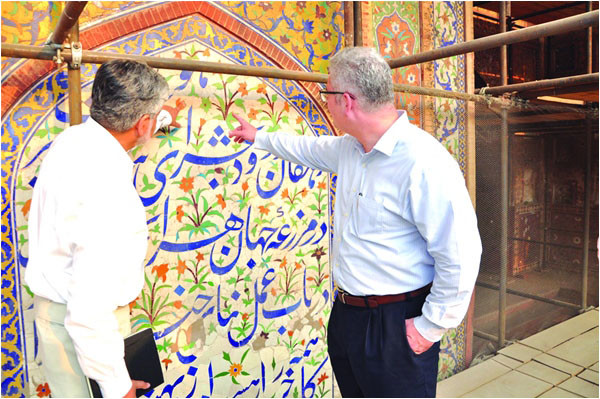 Outgoing US Consul General in Pakistan shares his Top Ten Memories: AKTC restored Walled City Project
