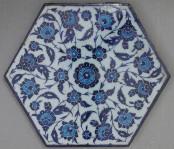 Tile with floral decoration, dated ca. 1535, Iznik, Turkey. Metropolitan Museum of Art
