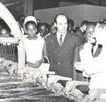 Visiting first IPS project Abidjan, 1967