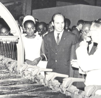 Visiting first IPS project Abidjan, 1967