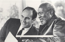 With President Jomo Kenyatta, Nairobi, 1966. Photo: 25 Years in Pictures