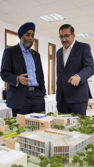 Canadian Minister of National Defence, Harjit Sajjan visits AKDN Institutions in Kenya