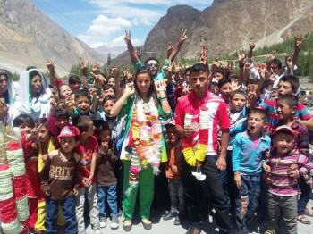 Jubilee Games Athletes receive warm welcome in Hunza, Pakistan
