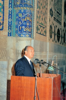 Award Ceremony, 1992 Aga Khan Award for Architecture, Samarkand. Photo: AKDN/Gary Otte