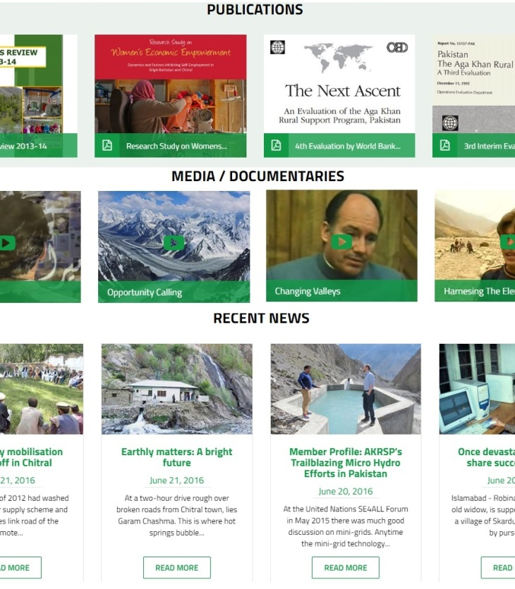 Aga Khan Rural Support Programme Pakistan (AKRSP, P) - Resources on the website. (Image credit: AKRSP,P)