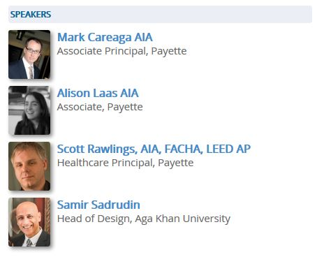Session Speakers of Legacy of Great Healthcare & Design: Aga Khan University Hospital Karachi