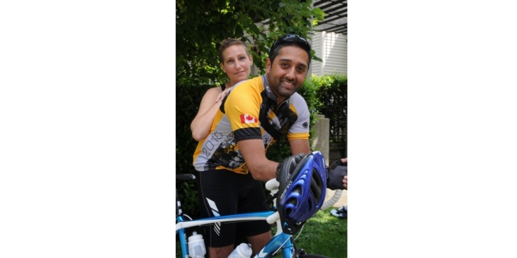 Burnaby cancer survivor Adam Charania cycling in fundraiser