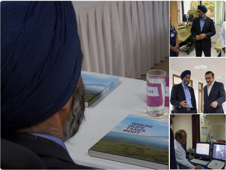 Canada's Minister of National Defence, Harjit Sajjan discussed development & conflict prevention with AKDN in Dar es Salaam, Tanzania.  (Image credit: Harjit Sajjan's Twitter page)