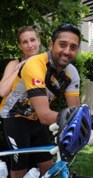 Burnaby cancer survivor Adam Charania cycling in fundraiser