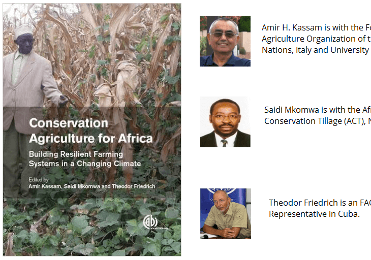 Edited by Professor Amir Kassam, New Book: Conservation Agriculture for Africa