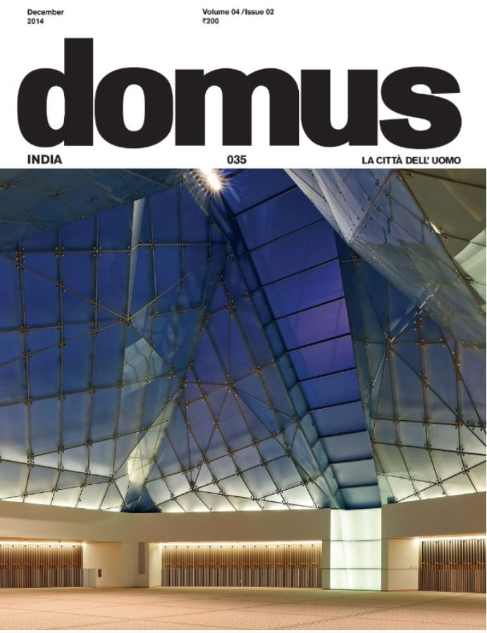 Domus India 2014-12-11 - Ismaili Centre Toronto - Front page