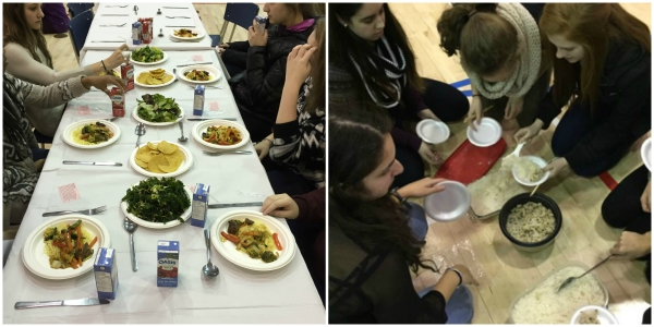 Student Rahina Damji comments on 'Hunger Banquet' to emphasize inequalities in our world