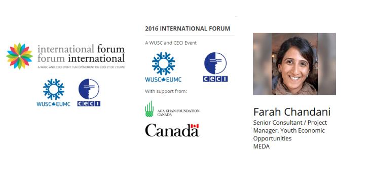 Farah Chandani presents at the International Forum