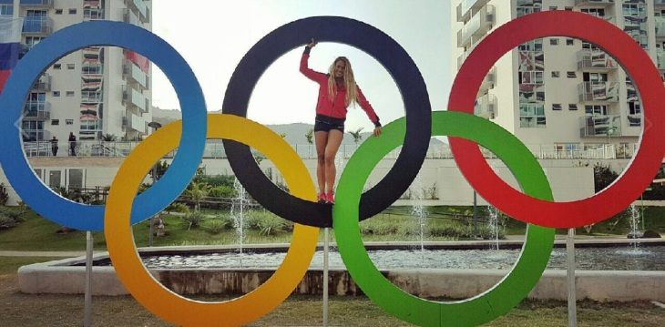 Kenya's Elite Ismaili swimmer, Talisa Lanoe competing at the 2016 Rio Summer Olympics