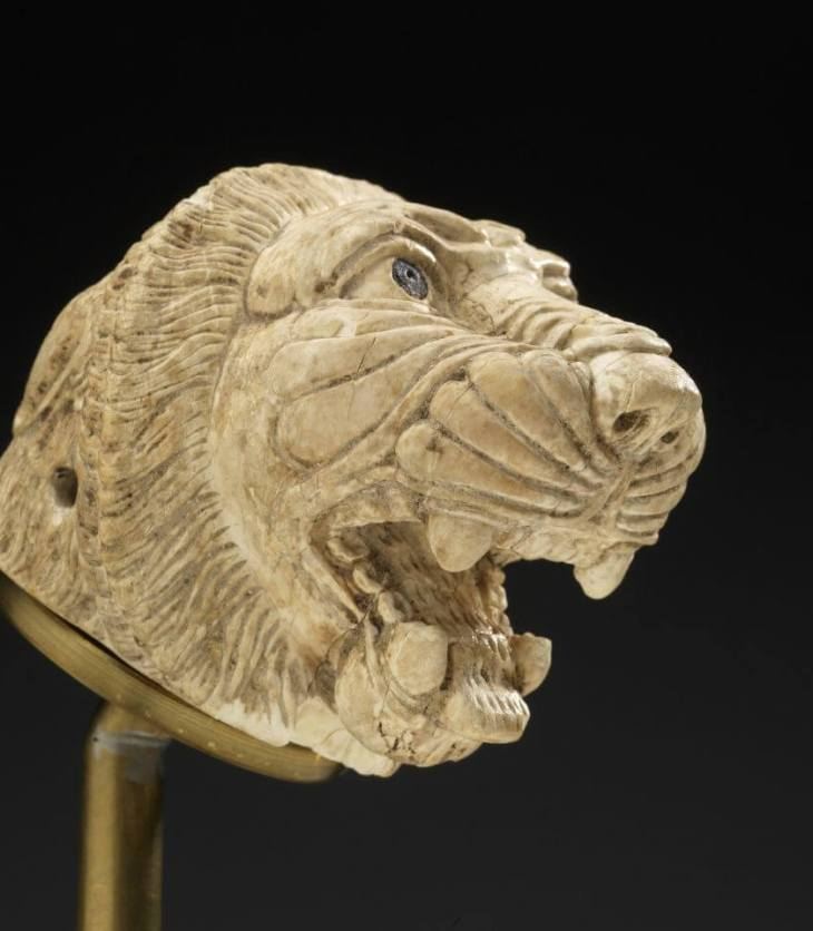 Lion's Head; Historic Syria; 9th–8th centuries BC; Ivory, carved. With permission of the Royal Ontario Museum © ROM.