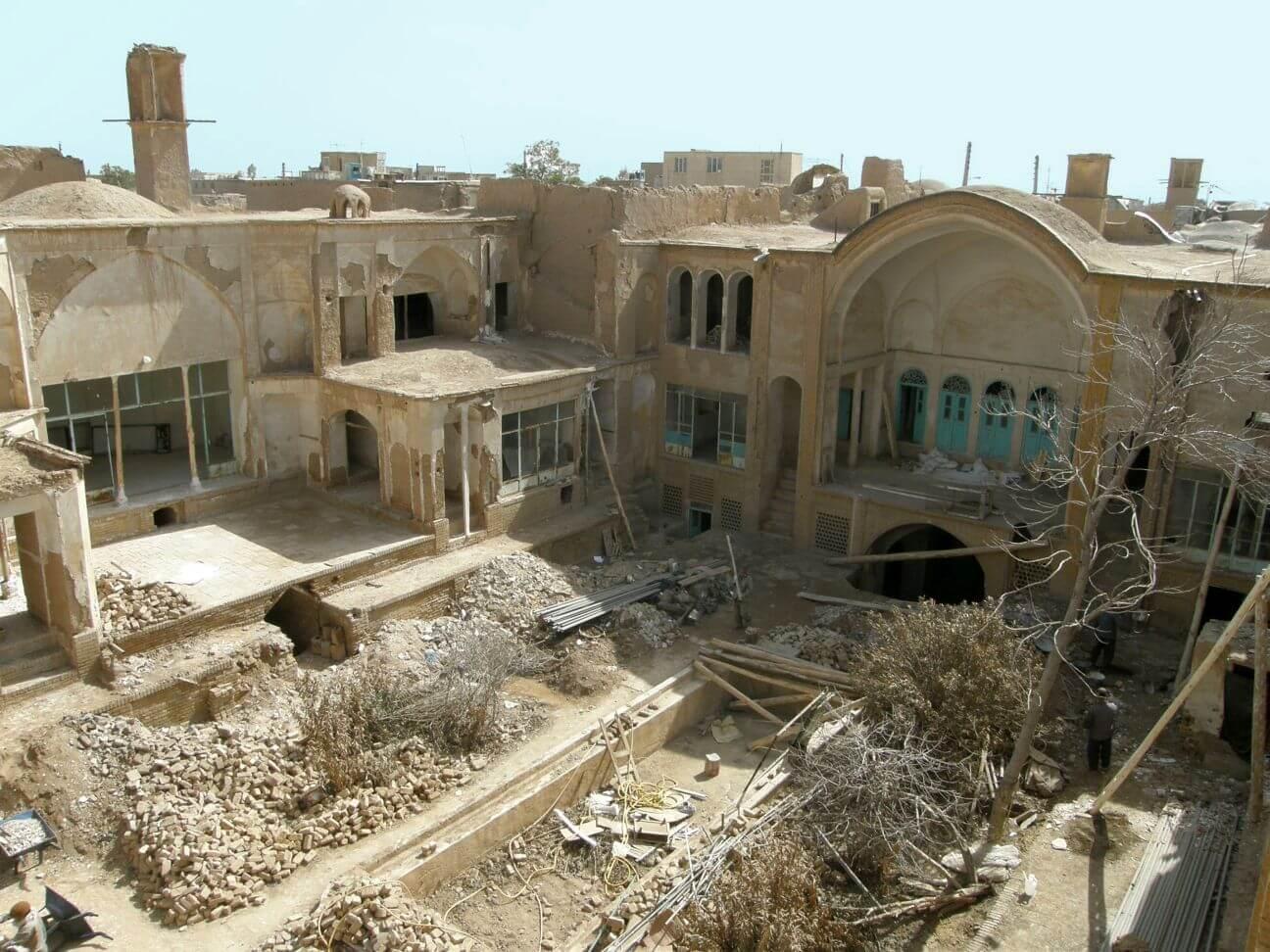 Upper view of Manouchehri house before renovation