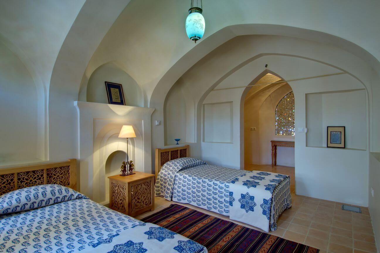 Interior view of boutique Hotel bedroom, Manouchehri House