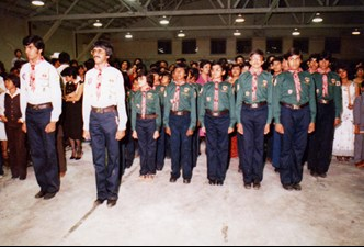 Historic photograph of 40th Edmonton Ismaili Scouts