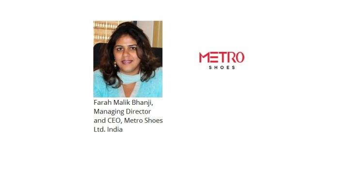 Farah Malik Bhanji Metro Shoes India Logo
