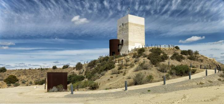 General view of the Nasrid Tower, Almeria, Spain