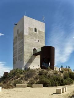 Close up of Nasrid Tower, Almeria, Spain