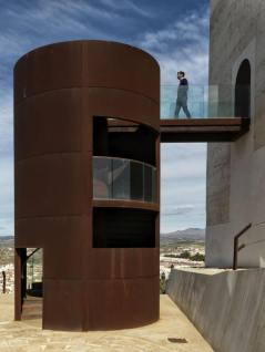 Staircase view of Nasrid Tower, Almeria, Spain
