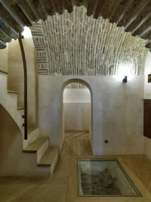 Wooden floor of the Nasrid Tower, Almeria, Spain