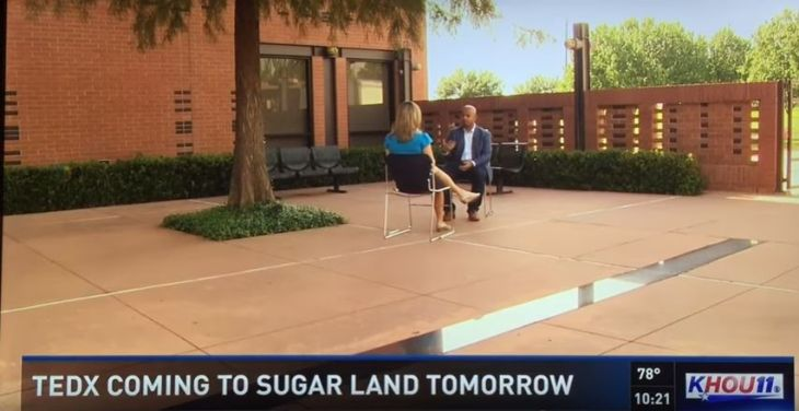 Naveed Lalani on KHOU CBS for TedXSugarland Interview at Ismaili Center