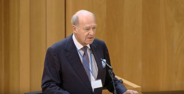 Amyn Aga Khan delivers speech at Scottish Parliament Edinburgh International Culture Summit