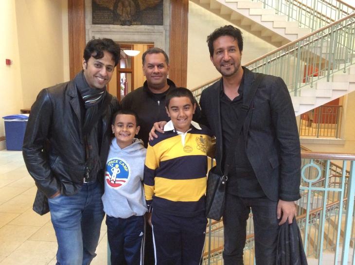 Qayl & Riyaan Maherali with Salim and Sulaiman at Harvard