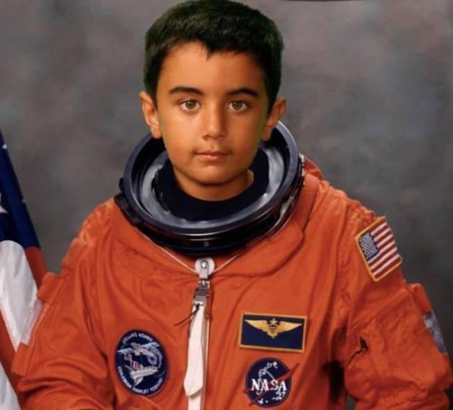 Aspiring Astronaut - Qayl Maherali on his 6th birthday. Photo: Qayl's Collection © Copyright
