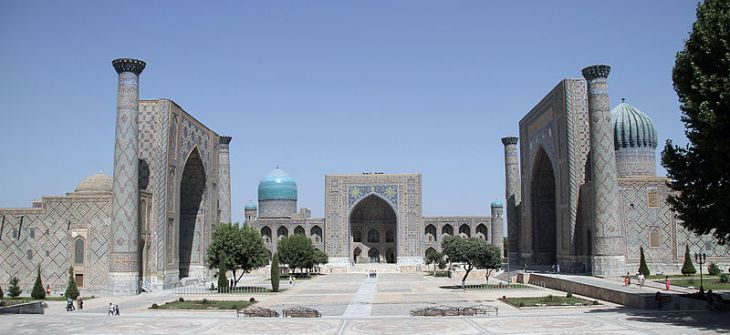 Registan Square, Samarkand. Photo: Wikepedia