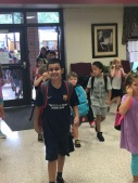 Riyaan First Day of School wearing JG Barca