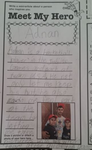 Riyaan - School Project JG - Meet my Hero Adnan